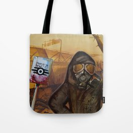 Nuclear Fallout Wasteland Tote Bag
