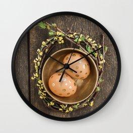 Golden eggs Wall Clock