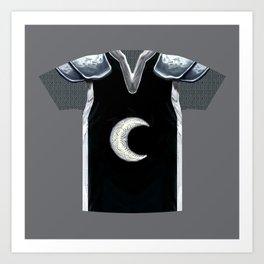Armor Series: Moon Paladin Chain Shirt Art Print
