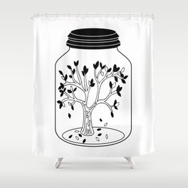 Fall In A Jar Shower Curtain