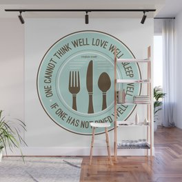 Dined Well Wall Mural