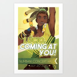 lucio, coming at you! Art Print