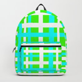 Green & Aqua Interlocking Stripes Backpack