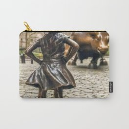 Fearless Girl And Wall Street Bull Statue - New York Carry-All Pouch