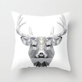 Boho poly deer Throw Pillow