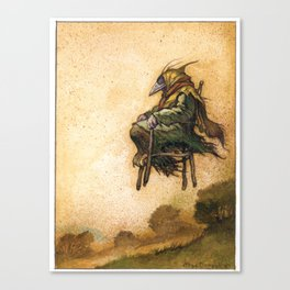 The Crow Witch Canvas Print