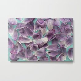 Purple Rose Petals x Ultraviolet Metal Print