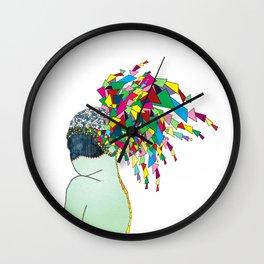 geometric girl Wall Clock
