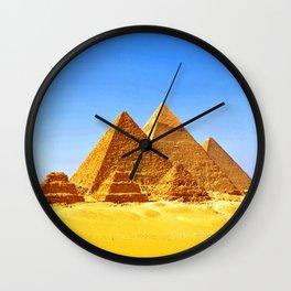 The Pyramids At Giza Wall Clock