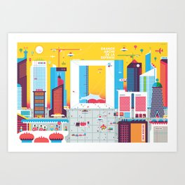 Paris, La Defense Art Print