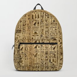 Egyptian hieroglyphs on papyrus Backpack