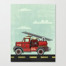 Atomic County Fire Department Canvas Print