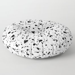 Paint Spatter Black and White Floor Pillow
