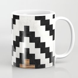 Urban Tribal Pattern No.16 - Aztec - Concrete and Wood Coffee Mug