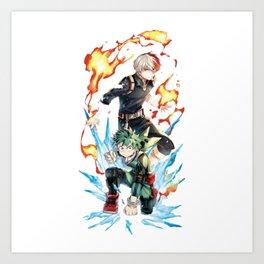 boku no hero academia Art Print