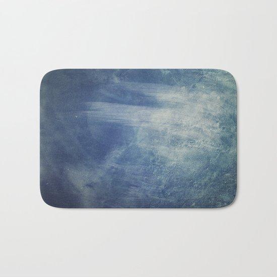 texture bleue Bath Mat