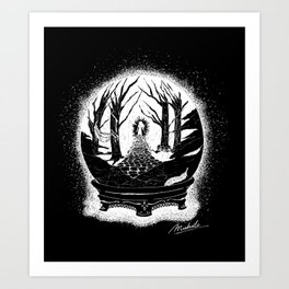 Visions in the Night (negative) Art Print