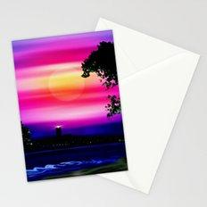 Evening sun on the coast. Stationery Cards
