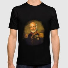 Sir Sean Connery - replaceface Mens Fitted Tee Black MEDIUM