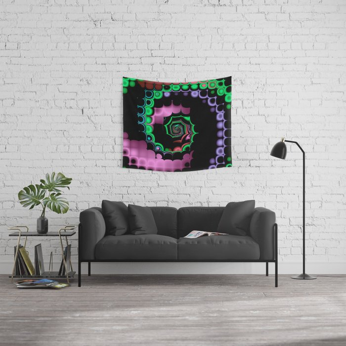 TGS Fractal Abstract Wall Tapestry