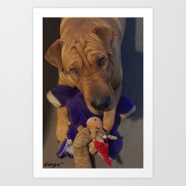 """""""Toys!"""" from the photo series""""My dog, PLaY-DoH"""" Art Print"""