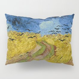 Wheatfield with Crows Painting by Vincent van Gogh Pillow Sham