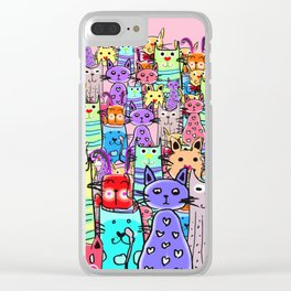 Cat world Clear iPhone Case