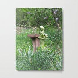 garden angel 1 Metal Print