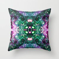 kaleidoscope Throw Pillows featuring Kaleidoscope by Mark Kriegh