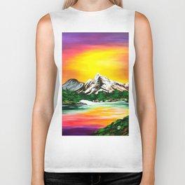 Sunset Mountains Biker Tank
