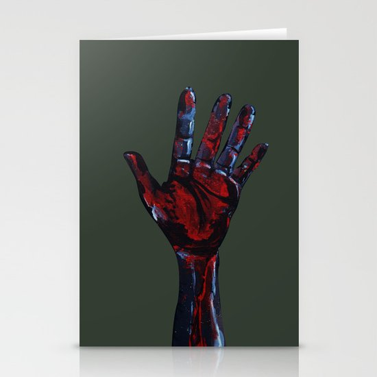 Hand of Death Stationery Cards
