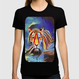 Bengal Tiger Crossing the Lake T-shirt