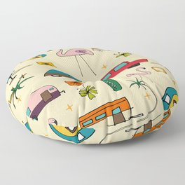 Vintage Kitsch Pearl Floor Pillow