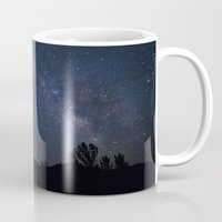 night sky Mugs featuring night sky by illustratographer