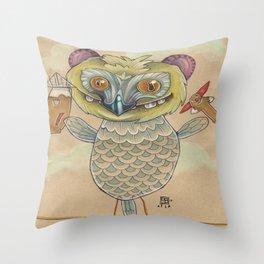 GINGERBREAD BIRD Throw Pillow