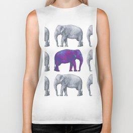 Elephants II Biker Tank