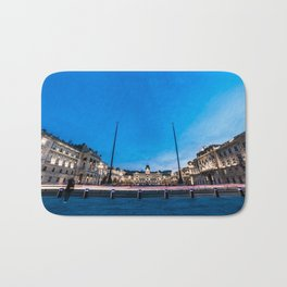 The square of Trieste during Christmas time Bath Mat