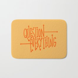 Question Everything - Orange Bath Mat