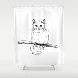 Owlcat Shower Curtain