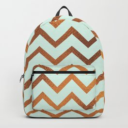 Mint With Blush Rose Gold Backpack