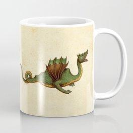 Medieval Green Dragon Coffee Mug