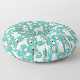 Great Pyrenees coffee lover pattern print gifts for dog breed unique dog person Floor Pillow