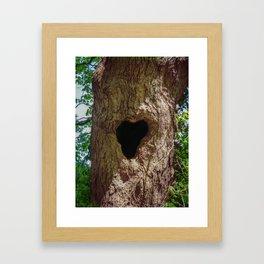 Heart Tree Framed Art Print