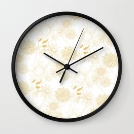 Delicate things Wall Clock