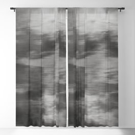 Fusion Abstract Watercolor Blend Pantone Pewter / Fluid Art Ink Blackout Curtain