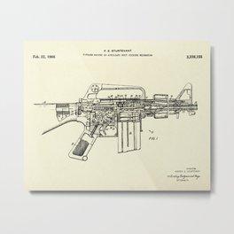 Firearm Having an Auxiliary Bolt Closure Mechanism-1966 Metal Print
