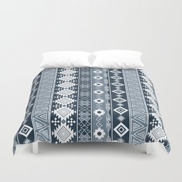 Colorful Aztec pattern with dirty blue. Duvet Cover