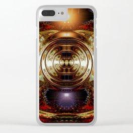 Dashing Circlette Clear iPhone Case