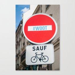 Paris Street Signs Canvas Print