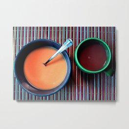 Coffee and Soup Metal Print